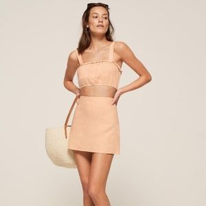 Reformation Carolisa 2 Piece Set PEACH NWT size 8
